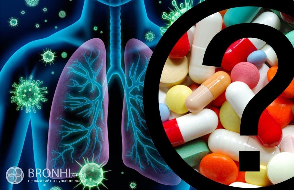 антибиотики при бронхите и трахеите