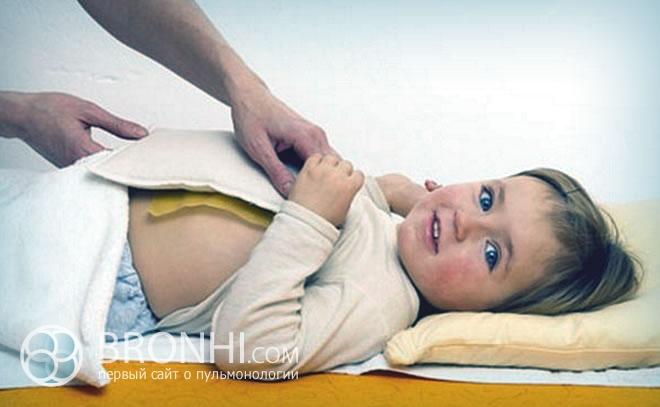 Компресс при лечении кашля у ребенка