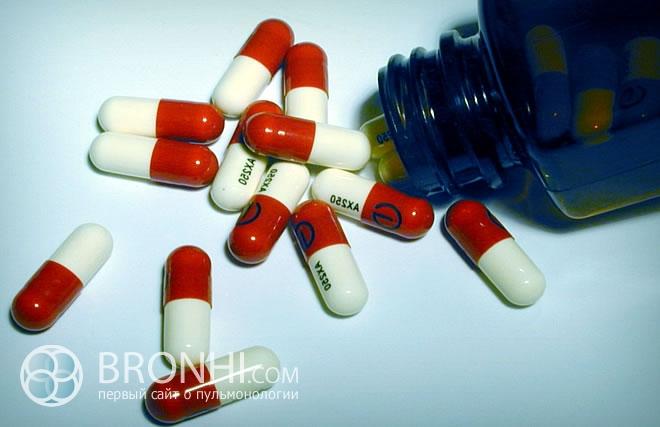 Медикаменты для лечения бронхита